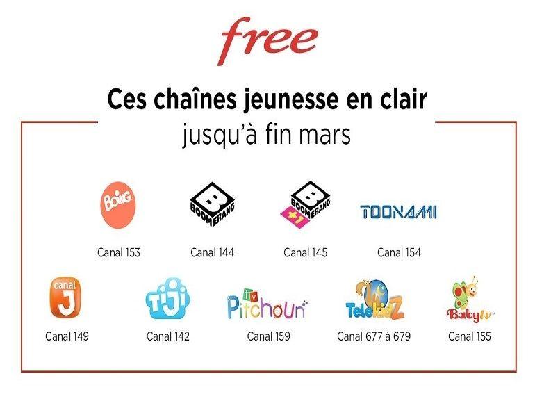 Coronavirus : Free (aussi) propose des chaînes gratuites, la solidarité TV continue