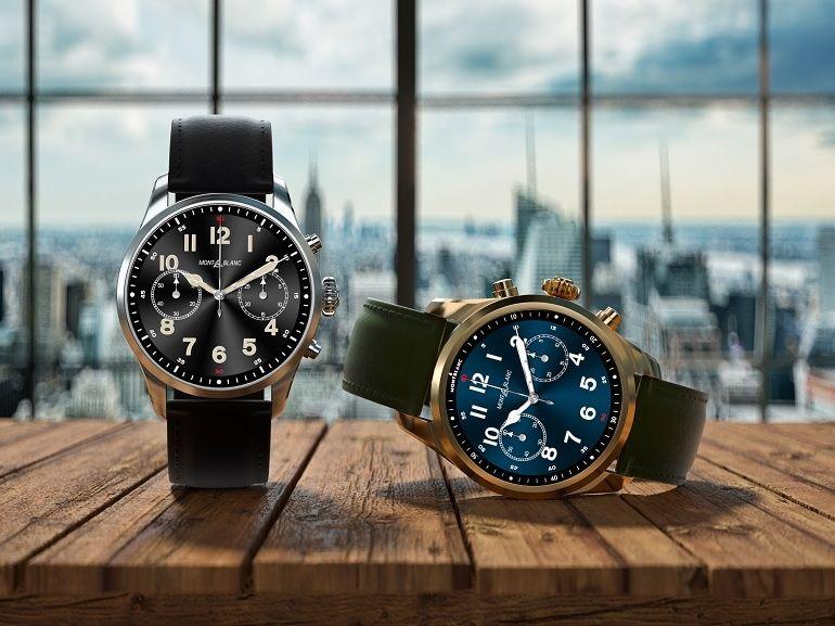 Montblanc présente une montre connectée et un casque audio de luxe