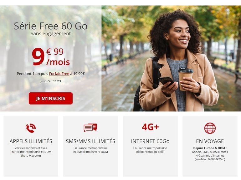 Free Mobile relance son forfait mobile 60 Go à 9,99€