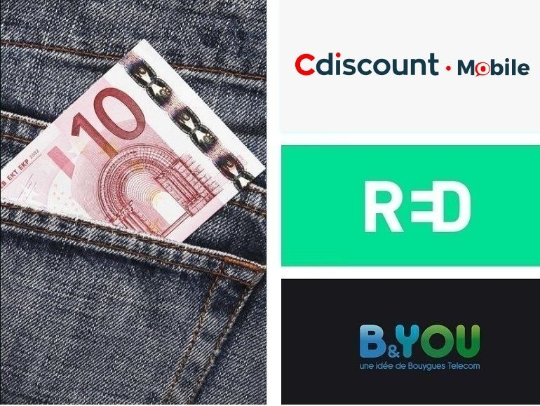 Forfait mobile : RED by SFR, B&You ou Cdiscount Mobile, quelle promo choisir ?