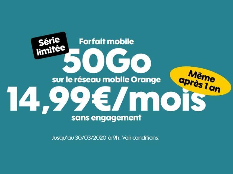 Forfait mobile : que vaut la nouvelle offre Sosh 50 Go à 14,99 € (sans limite de durée) ?