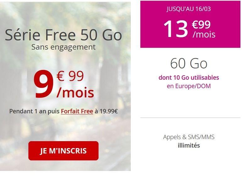 free mobile passer d un forfait ? l autre