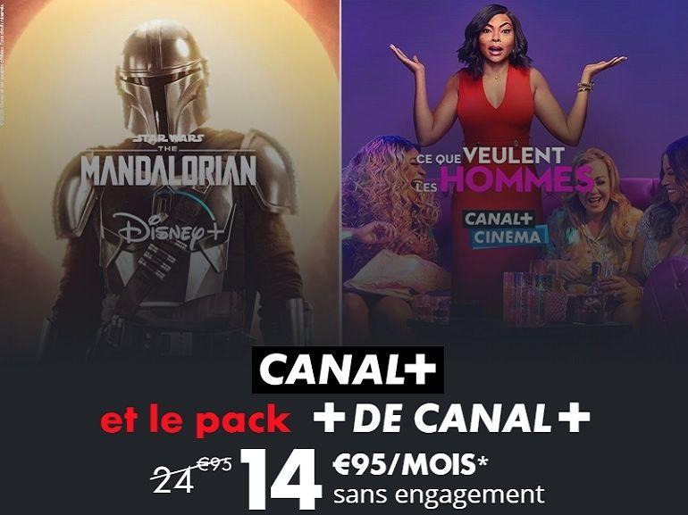 Canal+ avec Disney+ : moins de 26 ans ? Un pack (100% digital) à 14,95€/mois au lieu de 24,95
