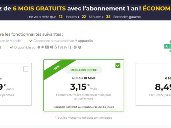 Bon plan VPN : craquez pour l'offre CyberGhost à 3,15€ par mois