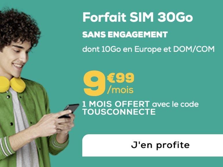 Forfait mobile : 30 Go à moins de 10€, avec un mois offert chez La Poste Mobile