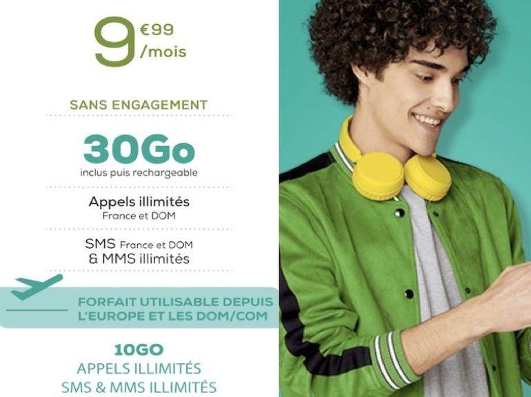 Forfait mobile : 30 Go pour 10€/mois, l'offre canon de La Poste Mobile