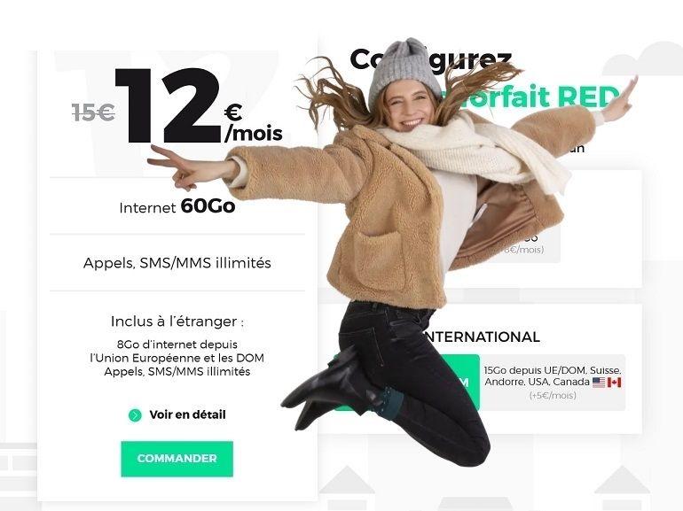 Forfait mobile : l'offre 60 Go à 12€ de RED by SFR est de retour