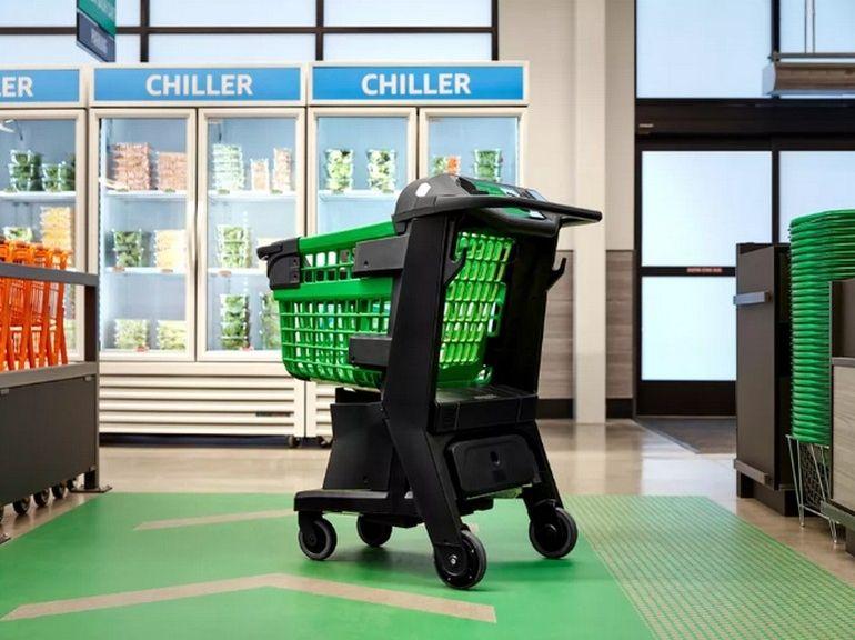 Amazon dévoile le chariot de supermarché du futur
