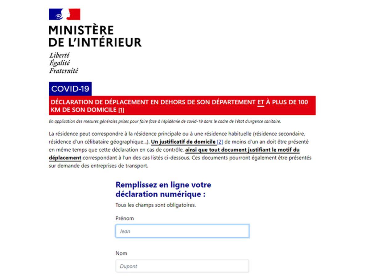 Comment Faire L Attestation De Deplacement A Plus De 100 Km Sur Smartphone Tutoriel Cnet France