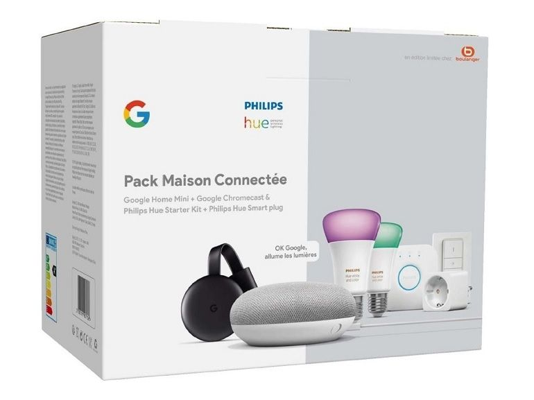 Bon plan : le pack maison connectée Philips HUE / Google Home à 179,99€ [-40%]