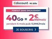 French Days 2020 : Cdiscount Mobile casse les prix avec un forfait 40 Go à 2.99 euros