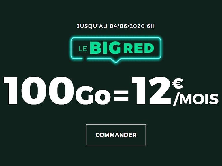 French Days 2020 : 100 Go pour 12 euros, le forfait BIG RED de SFR est de retour !