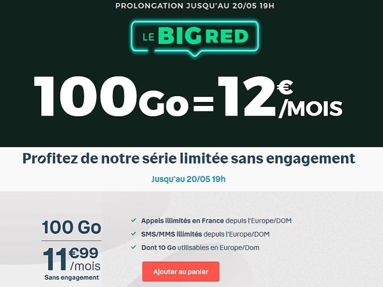 Forfait 100 Go à 12 euros : RED by SFR et B&You jouent les prolongations