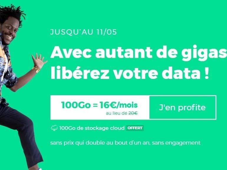 Forfait mobile : 100 Go pour 16 euros, RED casse les prix sur le sans engagement