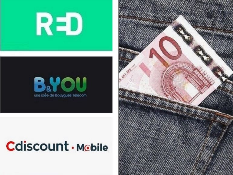 Forfait 100 Go à partir de 10 euros : qui choisir entre RED, B&You et Cdiscount Mobile ?