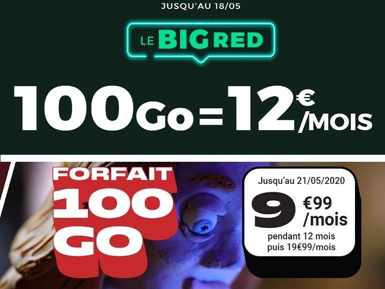 RED by SFR ou NRJ Mobile : quel est le meilleur forfait 100 Go en promo du week-end ?