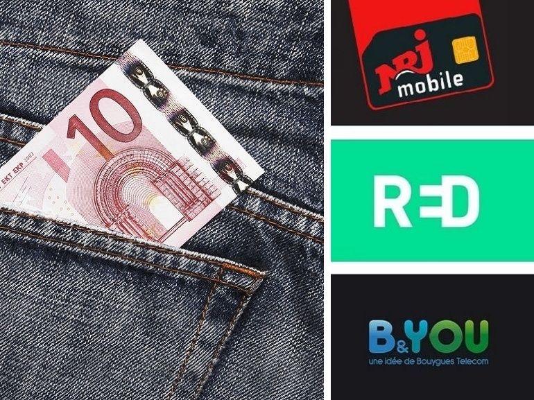 Forfait 100 Go (et plus) à partir de 10 euros : qui choisir entre RED, B&You et NRJ Mobile ?