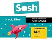 Bon plan : l'abonnement internet Sosh ADSL ou Fibre est à 14,99 euros / mois