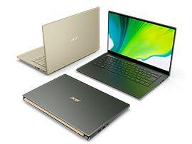 Acer Swift 5 et Swift 3 : passage au Tiger Lake avec certification Intel Evo