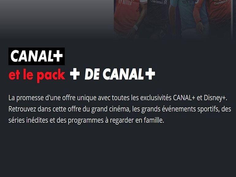 Canal+ avec Disney+ : très belle promo sur le pack avec toutes les chaînes Canal à 19.90€/mois