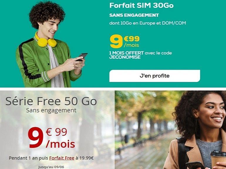Bon plan forfait à 10 euros : Free Mobile ou La Poste Mobile, le match