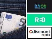 Forfait 60 Go à partir de 4,99 euros : on refait le match entre RED, B&You et Cdiscount