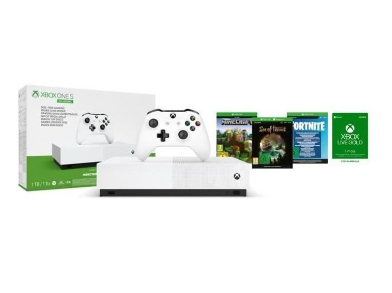 Bon plan : Xbox One S All Digital, 3 jeux et 1 mois de Xbox Live Gold pour 149.99€ au lieu de 229.99