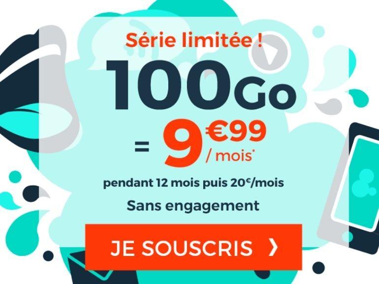 Forfait mobile : la promo 100 Go de Cdiscount Mobile à moins de 10 euros est de retour