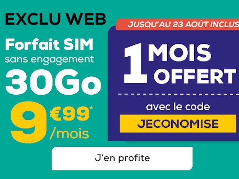 Forfait mobile : 30 + 10 Go à moins de 10€, avec un mois offert chez La Poste Mobile