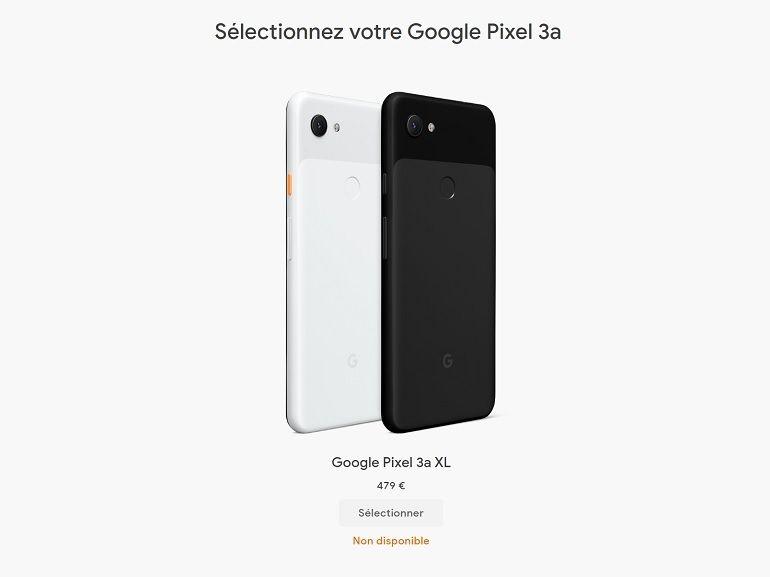 Google : c'est officiel, les Pixel 3a ne sont plus disponibles à la vente
