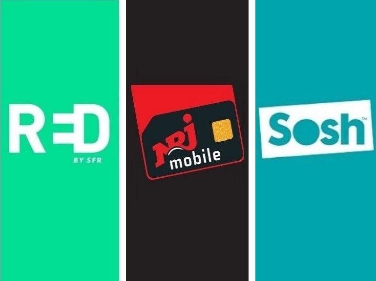 100 Go à partir de 4.99 euros : quel forfait choisir entre RED SFR, Sosh et NRJ Mobile ?