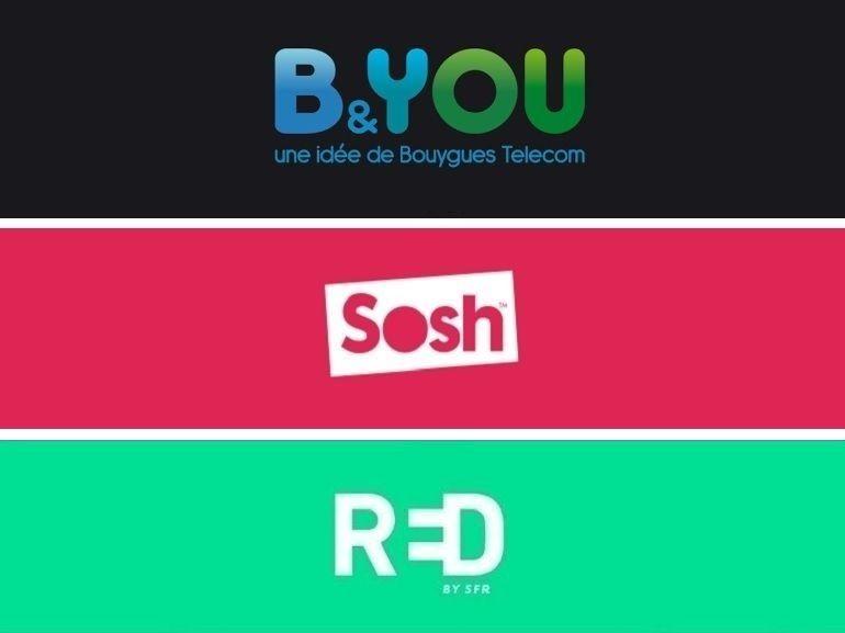 Forfait mobile 100 Go à moins de 20€ : qui choisir entre RED, B&You et Sosh ?
