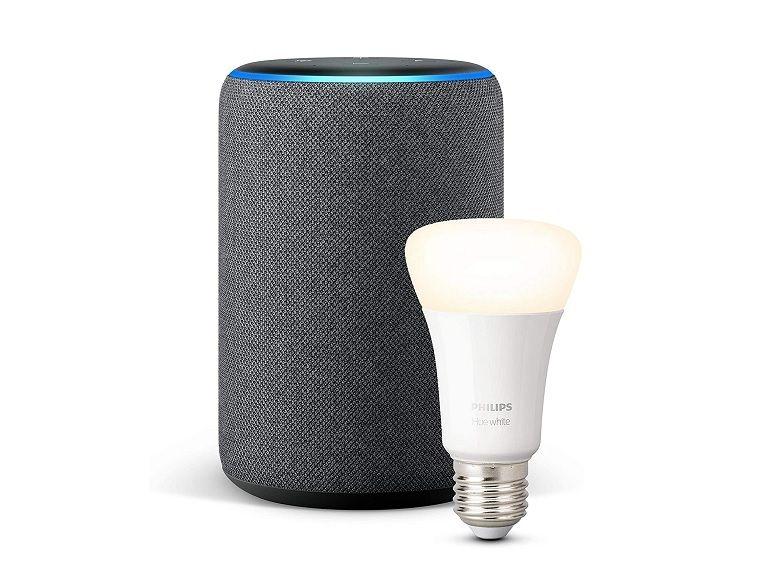 Bon plan : l'enceinte Amazon Echo Plus (2e gen) + l'ampoule connectée Philips à 74,99€ [-50%]