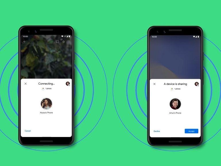 """Nearby Share, l'équivalent du système """"AirDrop"""" d'Apple arrive enfin sur Android"""