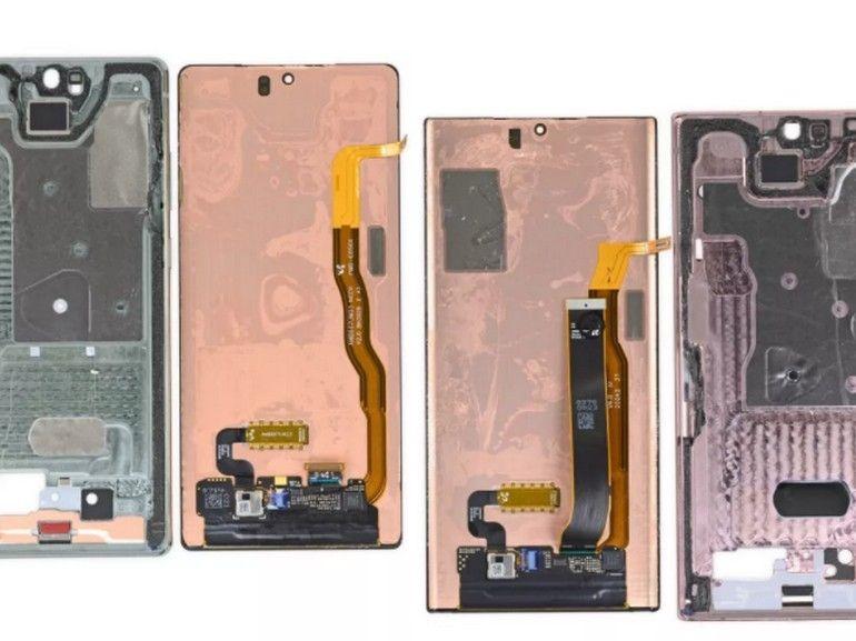 iFixit découvre deux systèmes de refroidissement différents sur le Galaxy Note 20