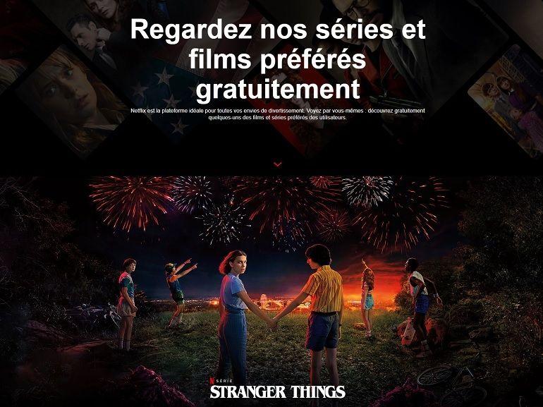 Netflix : des films et séries disponibles gratuitement pour les non-abonnés