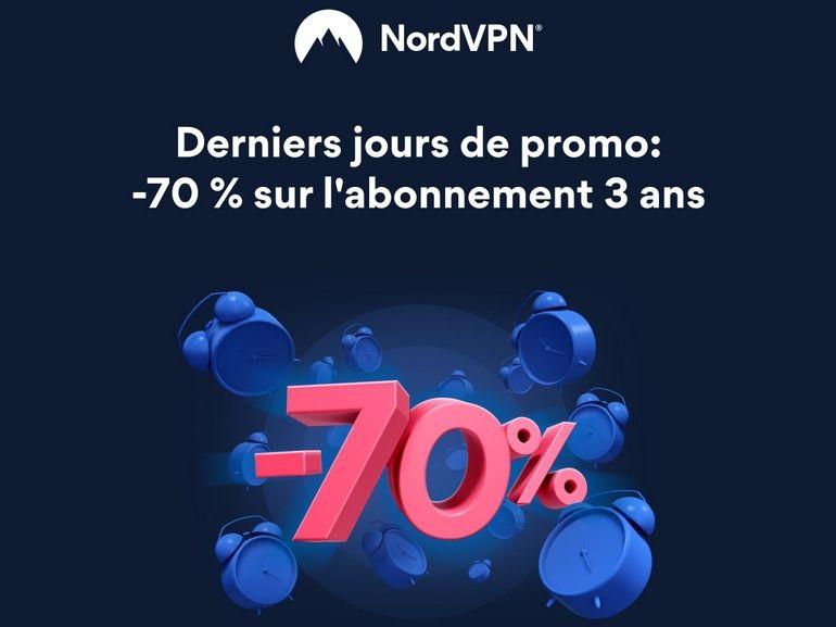Bon plan NordVPN : derniers jours pour profiter de l'offre 3 ans à seulement 3,11€/mois