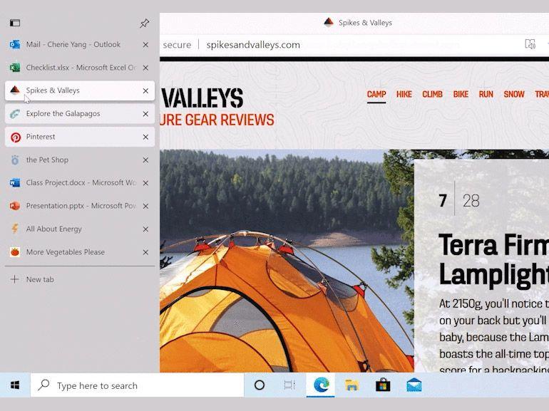 Microsoft Edge : les onglets verticaux bientôt en test sur le navigateur
