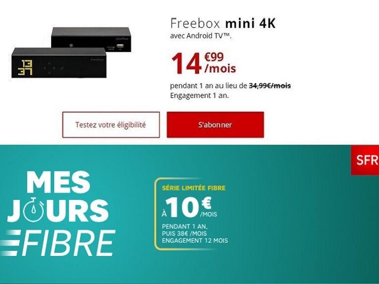 Fibre à partir de 10 euros : SFR ou Free, quelle box en promo choisir ?