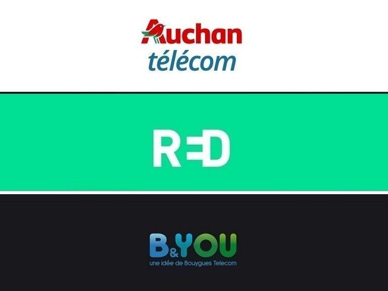 RED, B&You ou Auchan Télécom : trois forfaits 100 Go en promo mais lequel est le meilleur ?