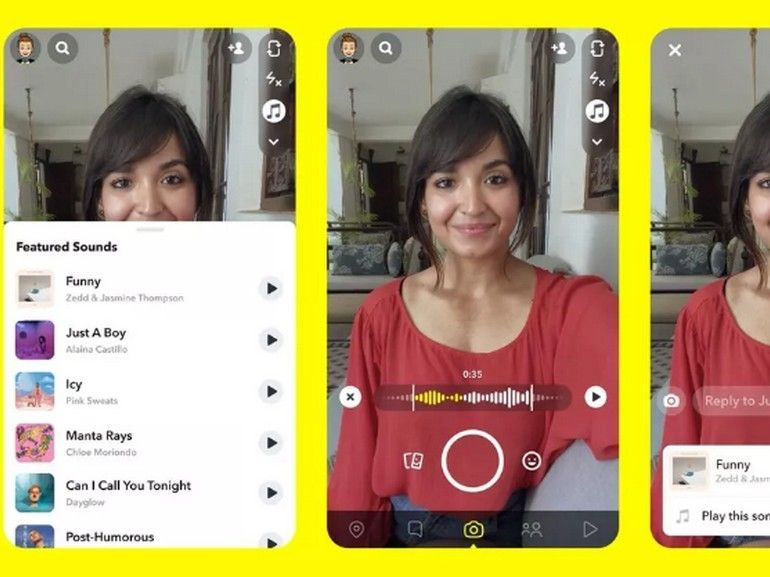 Snapchat teste une fonction musicale pour riposter face à TikTok