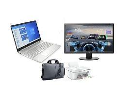 Bon plan : PC Portable HP 15 pouces + imprimante + moniteur 24 pouces + sacoche à 399,99 €, seulement
