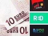 Forfait 100 Go à partir de 10 euros : RED, B&You ou NRJ Mobile ?