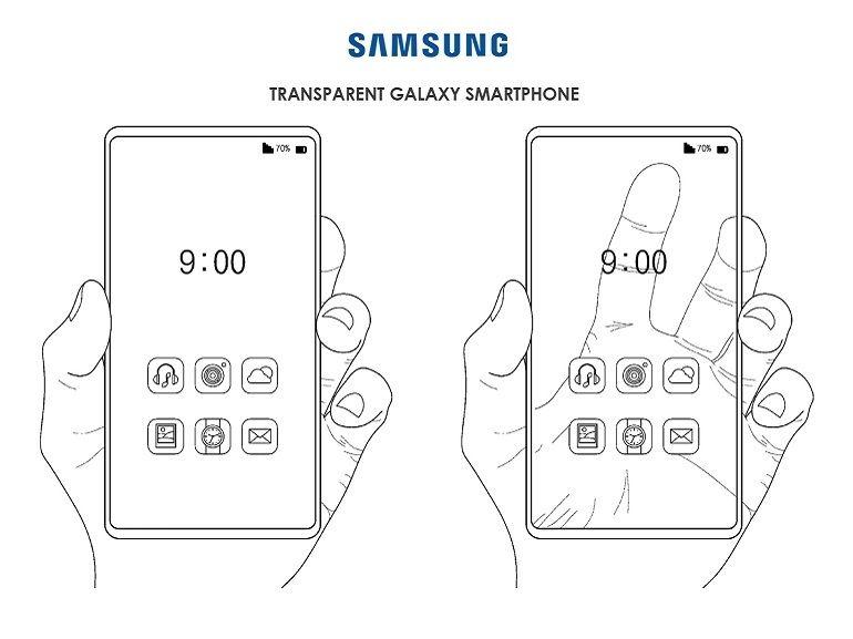 Samsung imagine un smartphone entièrement transparent
