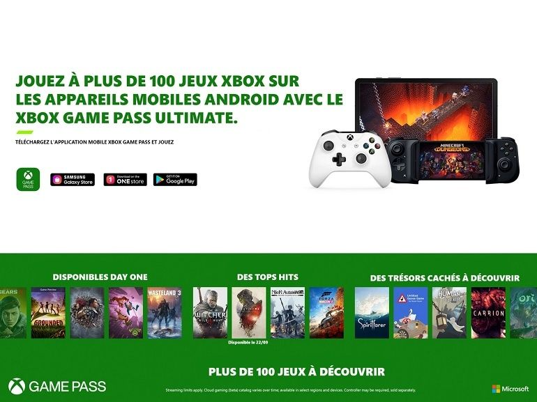 xCloud rejoint le Xbox Game Pass Ultimate