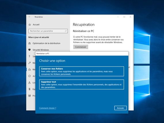 Windows 10 : Microsoft propose une solution au bug de la réinitialisation