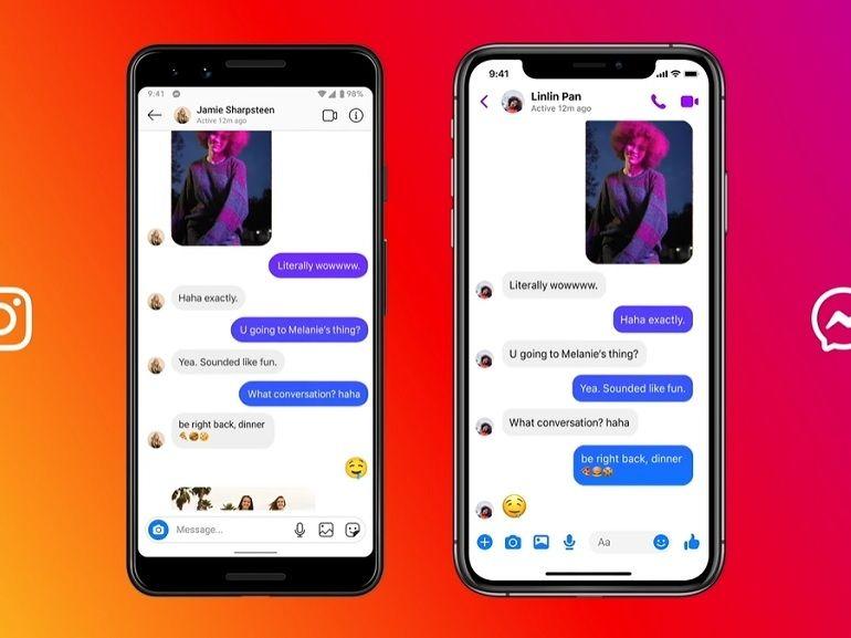 La dernière mise à jour d'Instagram fusionne sa messagerie avec Facebook Messenger