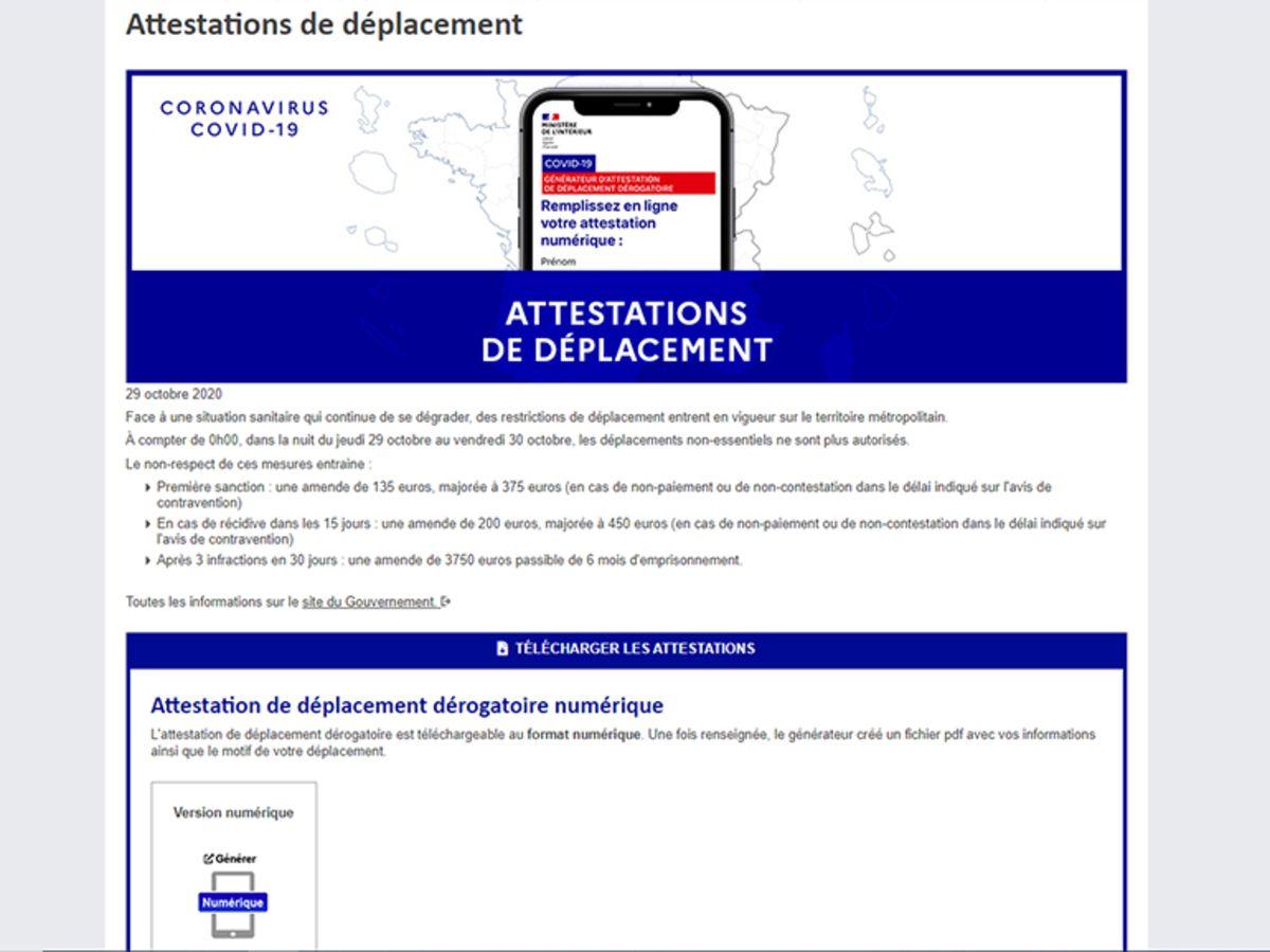 Attestation Couvre Feu Ce Qu Il Faut Savoir Sur Les Documents Et Le Deconfinement Cnet France