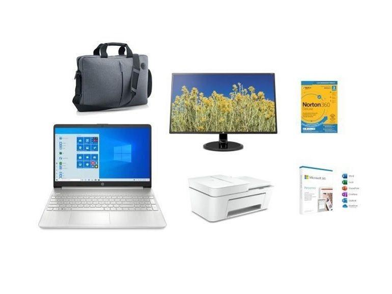 Bon plan : le pack PC Portable HP + écran 27 pouces + imprimante + Microsoft 365 + Norton à 399,99€