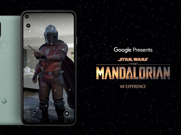 The Mandalorian en réalité augmentée sur les Pixel 5 et Pixel 4a 5G